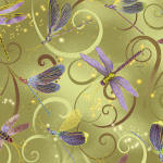 Dance Of The Dragonfly 100% cotton fabric
