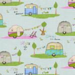 Happy Camper 100% cotton fabric Collection
