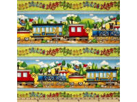 Riding The Rails 100% cotton fabric Collection
