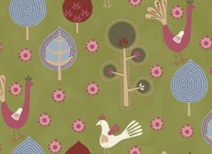Scandic Peacock 100% cotton fabric Collection